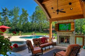 Patio Area Rug Outdoor Fireplace With Tv Patio Traditional With Area Rug Cedar