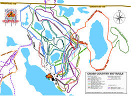 Beaver Lake Map Trail Map Maplelag Resort