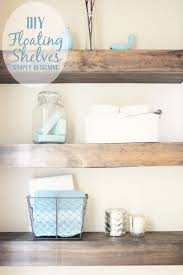 Built In Shelves In Bathroom Diy Floating Shelves How To Measure Cut And Install