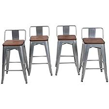 amazon com lch 30 inch metal industrial bar stools indoor