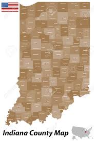 Indiana Counties Map A Detailed Map Of The State Of Indiana With All Counties And