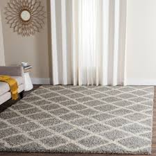 Home Depot Rugs Sale Safavieh Dallas Shag Gray Ivory 8 Ft X 10 Ft Area Rug Sgd258g 8