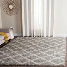 Home Depot Area Carpets Safavieh Dallas Shag Gray Ivory 8 Ft X 10 Ft Area Rug Sgd258g 8