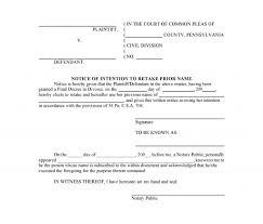 Pennsylvania Power Of Attorney by Free Pennsylvania Notice Of Intention To Retake Prior Name Pdf