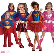 girls supergirl superhero dress tutu kids fancy dress costume