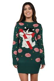 meowy christmas sweater women s cat with candy sweater dress tipsy elves