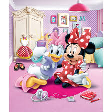 kids wall art next day delivery kids wall art from worldstores walltastic disney minnie mouse mural 8ft x 6ft6 sticker