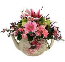 Flower Arrangement Techniques by Bouquet In A Teapot Window Flowers And Pretty Bouquets
