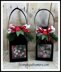 stampingwithamore christmas lantern treat holders