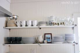 open shelving in kitchen ideas kitchen ana white build a open