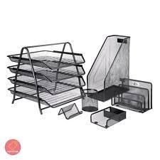 Black Wire Mesh Desk Accessories Staples Quill Brand Wire Mesh Desk Accessories Sorter Ebay