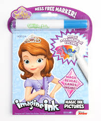 sofia imagine ink mess free game book zulily