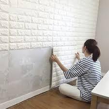home interior wall peel stick wallpaper brick design diy home decor