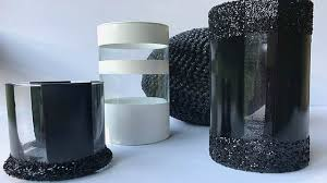 black and white centerpieces black and white centerpiece idea candle holder diy