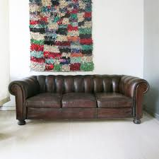 Leather Chesterfield Sofa Bed Sale by French Leather Chesterfield Sofa 1930s For Sale At Pamono