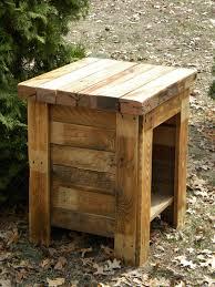 Pallet Wood Patio Furniture - rustic wood pallet end table jpg pallet ideas pinterest wood