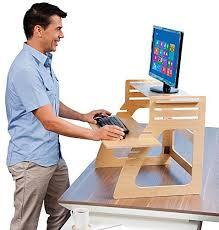Stand Up Computer Desk Adjustable Well Desk Adjustable Standing Desk Riser Simple And Solid Stand
