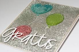 outbursts of creativity glitter birthday card