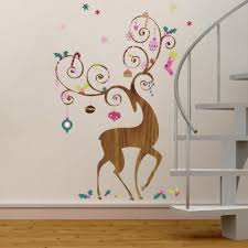 ornamental reindeer wall decals roommates