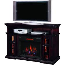 media console with fireplace home design