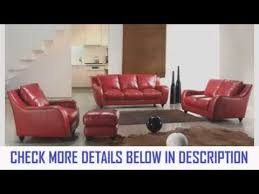 Red Sofa Set by Vig Furniture Full Leather Bremen Red Sofa Set Youtube