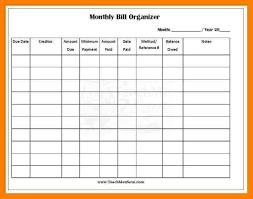 bill paying organizer template eliolera com