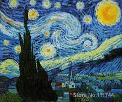 hand painted vincent van gogh oil painting reions starry night for home decor wall painting living
