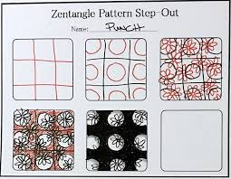 new tutorial how to draw the zentangle pattern punch always