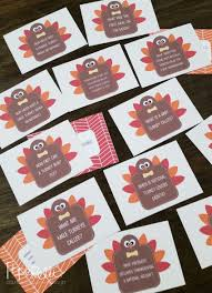thanksgiving table craft turkey trivia cards trivia thanksgiving