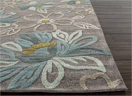 Blue Grey Area Rugs Enchanting Jaipur Brio Chain Tufted Floral Pattern