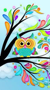 rainbow owl tree artsy fartsy craft painting owl