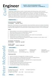 Sample Resume Of Civil Engineering Fresher Sample Of Resume For Civil Engineer Civil Engineer Resume Example