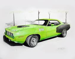 classic cars drawings realistic car drawings mopar forums