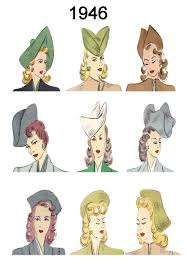 drawings of 1950 boy s hairstyles hat and hair style fashion history images 1946 1949