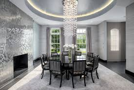 wallpaper for dining room ideas art deco dining room with concrete tile interior wallpaper in