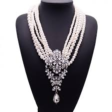 big crystal statement necklace images Necklace traditional european big drop fashion crystal simulated jpeg