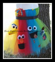elmo halloween party blue eyed kisses boutique sesame street costume tutu dress