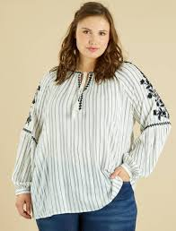 pleated blouse embroidered pleated blouse plus sizes striped kiabi 25