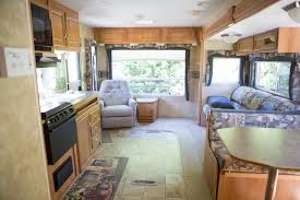 renovated rv couple takes their home on the road with this 276 square foot
