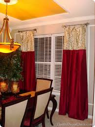 Two Tone Drapes Dining Room Built Ins From Thrifty Decor