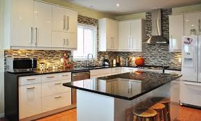 Small White Kitchen Cabinets Kitchen Modern Kitchen Using L Shaped White Kitchen Counter Also