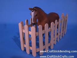 popsicle stick horse fence craft stick crafts craft stick