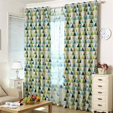 2017 ivolador geometric triangles pattern curtain blackout
