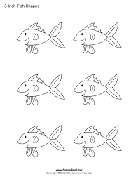 printable fish templates for kids preschool shapes colouring