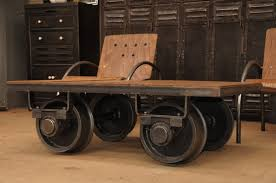 industrial coffee table with wheels industrial cart coffee table