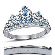 cinderella engagement ring multi color disney princess cinderella crown tiara engagement