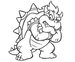 bowser coloring page bowser coloring page free printable coloring