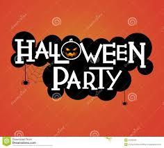 halloween party text design stock vector image 45295609
