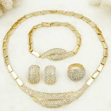 gold jewelry sets for weddings liffly fashion simple gold jewelry wedding