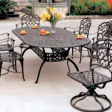 6 Chair Patio Dining Set - darlee catalina 7 piece cast aluminum patio dining set with oval